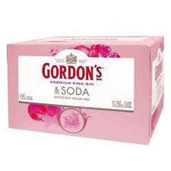 Picture of GORDONS PINK GIN AND TONIC 250ML 4% 12-PK CANS