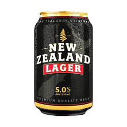 Picture of NZ LAGER 5% 18PK 330ML CANS