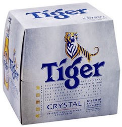 Picture of Tiger Crystal Beer 12 Pack Bottles 330ml