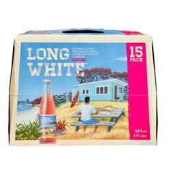 Long White Raspberry 15 Pack Bottles 4.8%