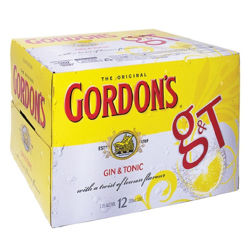 Picture of GORDONS GIN AND TONIC 250ML 12-PACK CANS
